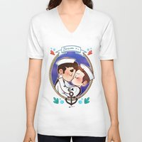 sailor V-neck T-shirts featuring Sailor by Sunshunes