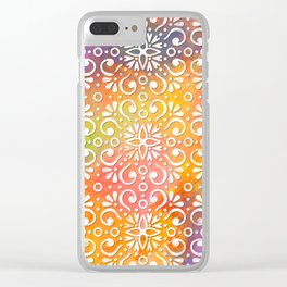 DP050-11 Colorful Moroccan pattern Clear iPhone Case