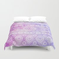 persian Duvet Covers featuring watercolor persian by Julie Laure