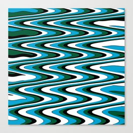 Blue green slur Canvas Print
