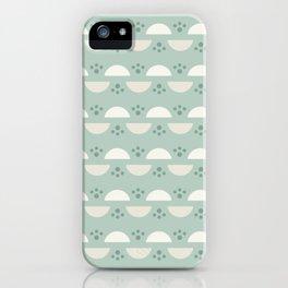 Circle with Splash - Beige Green iPhone Case