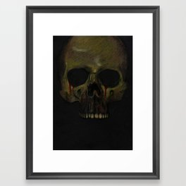 The Weeping Skull Framed Art Print