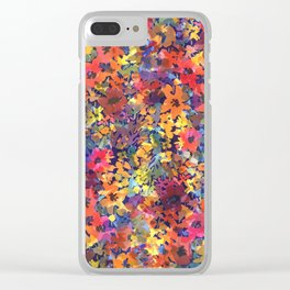 Late Summer Garden Clear iPhone Case