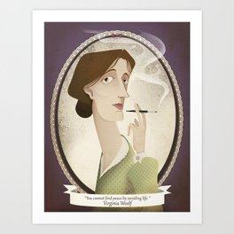 Virginia Woolf  said... Art Print