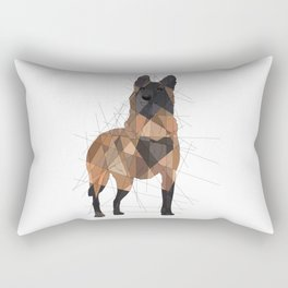 Belgian Malinois Rectangular Pillow