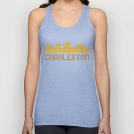 Vintage Style Charleston West Virginia Skyline Unisex Tank Top