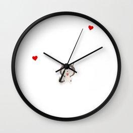 Life Without A Siberian Husky Funny Cute Dog Gift Idea Wall Clock