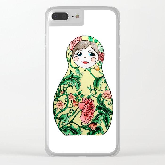 Matryoshka Doll Clear iPhone Case