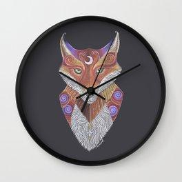 Fox Totem Wall Clock