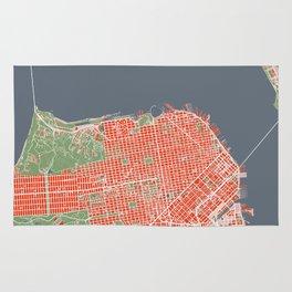 San Francisco city map classic Rug