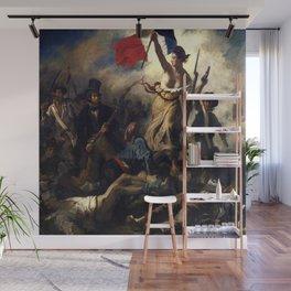 Delacroix – La liberté guidant le peuple-Liberty Leading the People-La Libertad guiando al pueblo Wall Mural