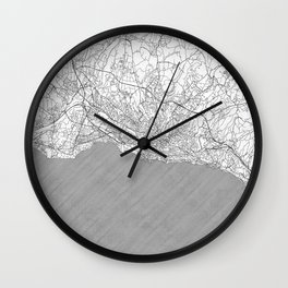 Lausanne Map Line Wall Clock
