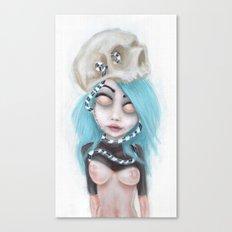 (Wearing Away) Blue Canvas Print