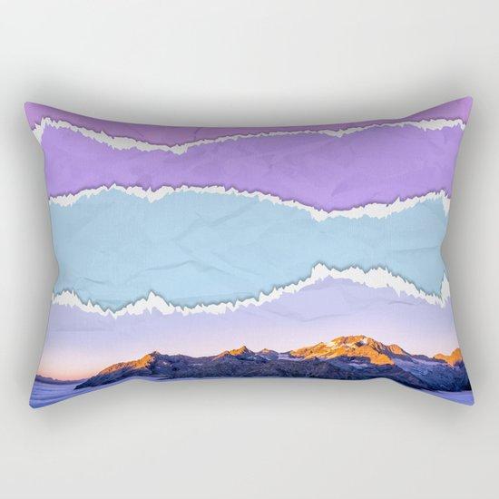 Mountain layers Rectangular Pillow