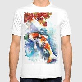 Koi Fish in the Pond - Zen Watercolor T-shirt
