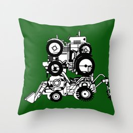 FARM TRACTORS Wheels Throw Pillow