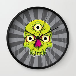 3 Eyed Jackass (green) Wall Clock