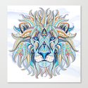 Blue Ethnic Lion by serigraphonart
