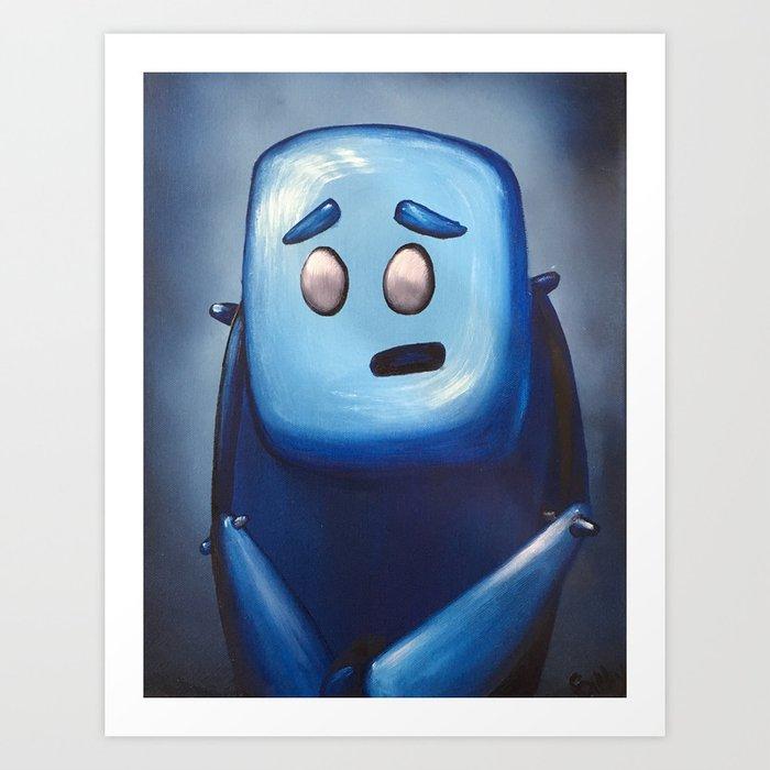 Hugh in Blue Art Print