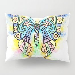 Pastel Butterfly 1 watercolor 1 Pillow Sham