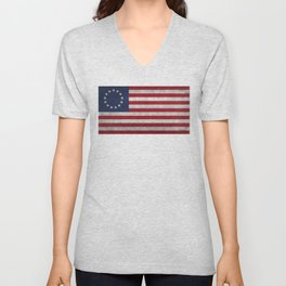 The Betsy Ross flag - Vintage grunge version Unisex V-Neck