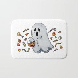 Trick or Treating Halloween Ghost Bath Mat