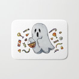 Trick or Treating Halloween Ghost Bath Mat