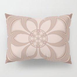 Beige Mandala Pillow Sham