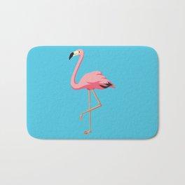 the Flamingo - vintage style illustration Bath Mat