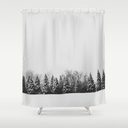 Pine Line Shower Curtain