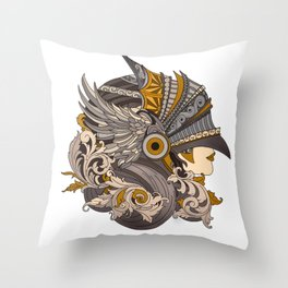 Always a knight Throw Pillow