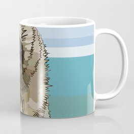 Raccoon Eating Ice-cream on the Beach | Summer Vacation | Cute Baby Animal Coffee Mug