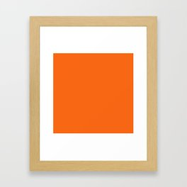 NEW YORK FASHION WEEK 2019- 2020 AUTUMN WINTER ORANGE TIGER Framed Art Print