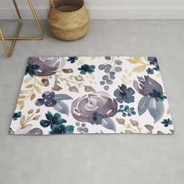 Fall Flowers and Berries  Rug