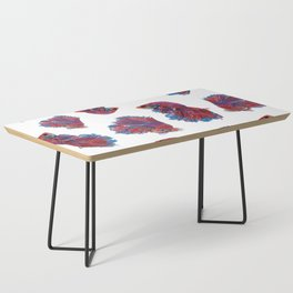 Ocean Theme- Red Blue Betta Fish Coffee Table