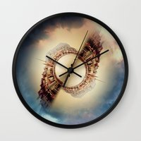 budapest Wall Clocks featuring Budapest by Petra Heitler
