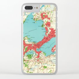Vintage Map of Madison Wisconsin (1959) Clear iPhone Case