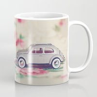 volkswagon Mugs featuring VW Love by Anna Dykema Photography