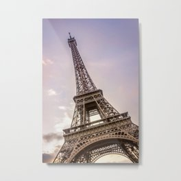 PARIS Eiffel Tower at sunset Metal Print