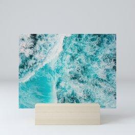 Blue ocean Mini Art Print