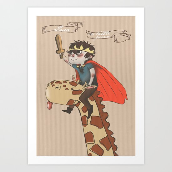 Luca the Little Prince Art Print
