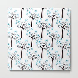cute tree pattern Metal Print