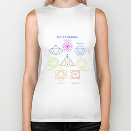 The seven chakras of the human body with their names Biker Tank
