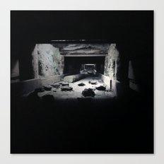 mining rock shoot Canvas Print