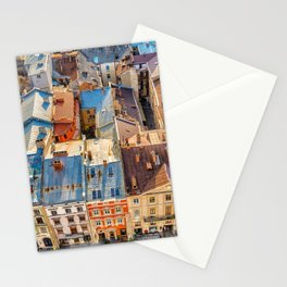 Old town roofs Stationery Cards
