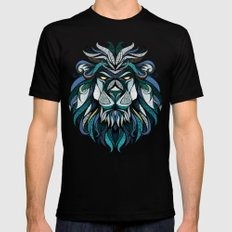 Blue Lion Mens Fitted Tee LARGE Black