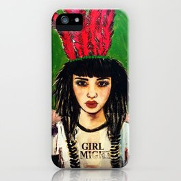 GIRL ALMIGHTY PAINTING iPhone Case