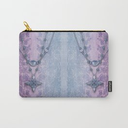 ABIGAIL'S LACE: FRENCH BLUE Carry-All Pouch