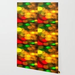 Colorful Bokeh Beautiful light #decor #society6 Wallpaper