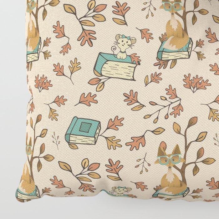 Fox in the Fall Floor Pillow